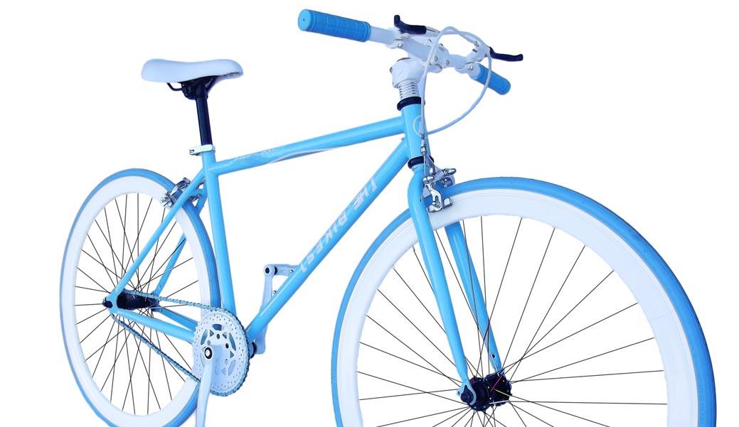 Bicicleta fixie azul ciclomania - La bici azul ...